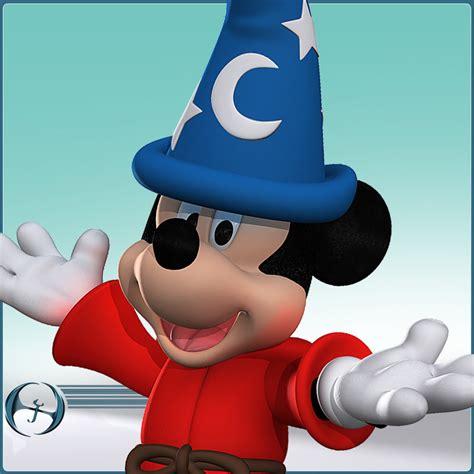 3d cartoon mouse mickey fantasia model