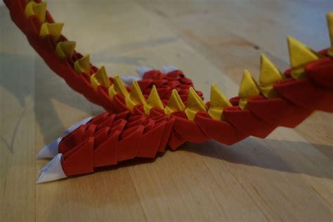 3D Modular Origami Dragon