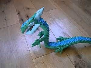 3D Origami Dragon Blue and Green   YouTube