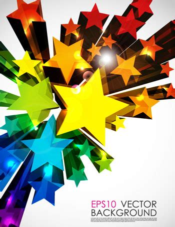 3D Star colorful background   Ai, Svg, Eps Vector Free ...