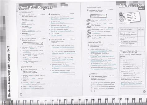 3rd ESO ANSWERS workbook pages 14 and 15 « Pushingenglish Blog