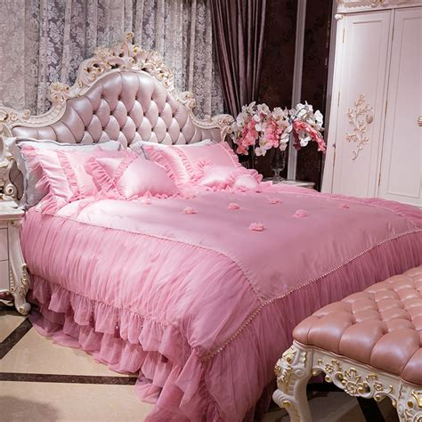 4/6Pcs King queen size princess girls Bedding set luxury ...