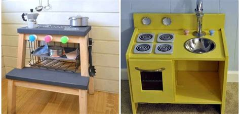 4 cocinitas de juguete que puedes hacer con muebles Ikea ...