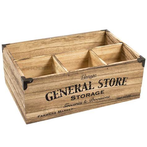 4 Compartment Vintage Wooden Crate Storage Box Milk Bottle ...