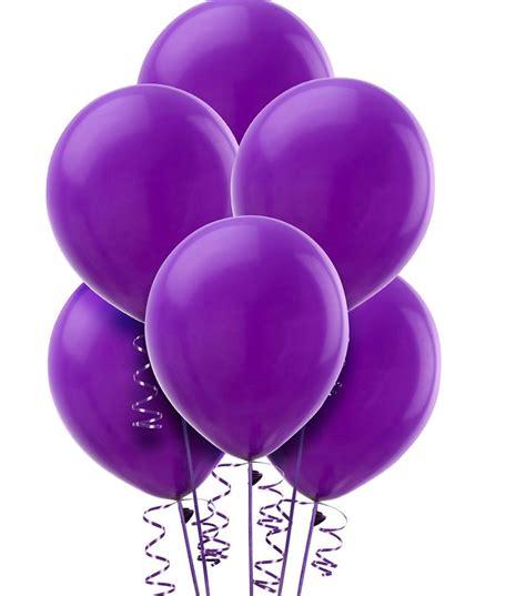 4 Globos Violetas de Latex | makemehappy