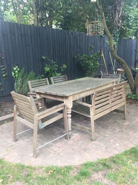 4 Ikea Applaro wooden garden chairs | in Beckenham, London ...
