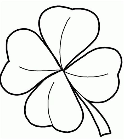 4 Leaf Clover Coloring Kids   Tatuajes de trébol, Hoja de ...