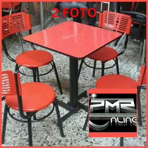 4 Sillas Karla Plastica Y Mesa Madera Para Restaurante Bar ...