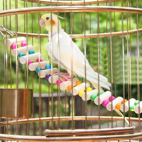 4 Styles Birds Toys Large Parrot Toys Drawbridge Bridge ...