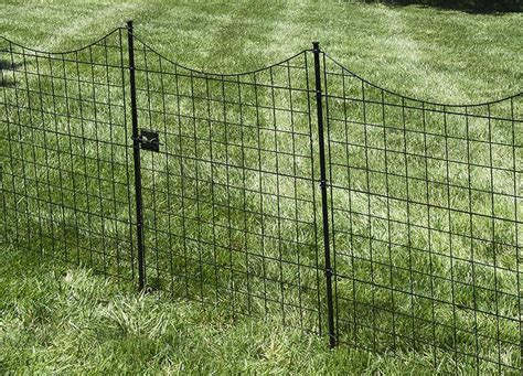 41in Semi Permanent Black Metal Garden Fence Gate ...