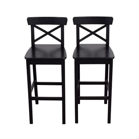 42% OFF   IKEA IKEA Wooden Barstool Chairs / Chairs