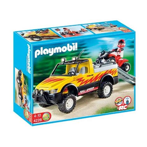 4228 car pick up with Quad   Playmobil   discontinued ...