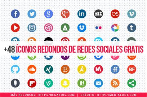 +48 Íconos Redondos de Redes Sociales Gratis » Regardis