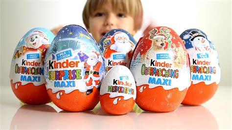 5 Big Kinder Surprise Eggs for Christmas and a regular ...