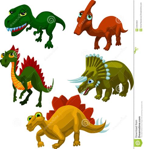 5 Different Dinosaurs Stock Photos   Image: 22354953