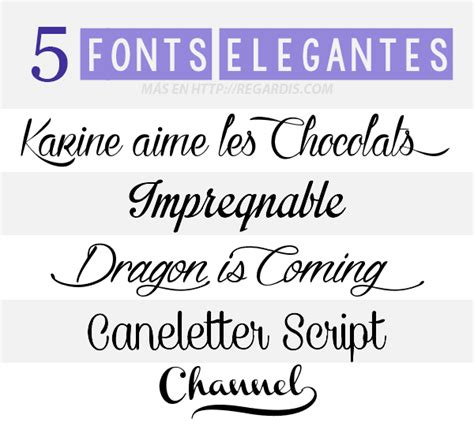 5 Fonts Elegantes Gratis » Regardis