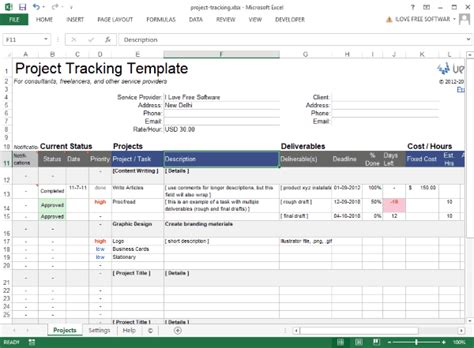 5 Free Excel Project Management Templates