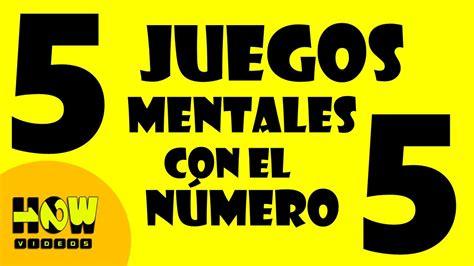 5 JUEGOS MENTALES CON EL NÚMERO CINCO  5    Test de ...