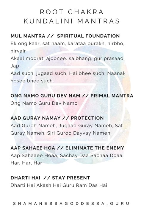 5 kundalini mantras to support your root chakra ...
