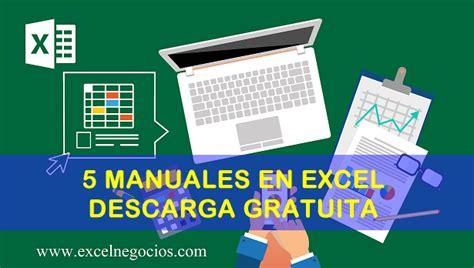 5 Manuales de Excel que debes revisar  Descarga Gratuita