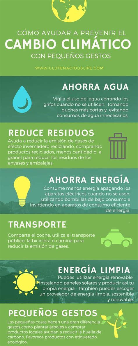 5 Pequeños gestos para prevenir el Cambio Climático ...