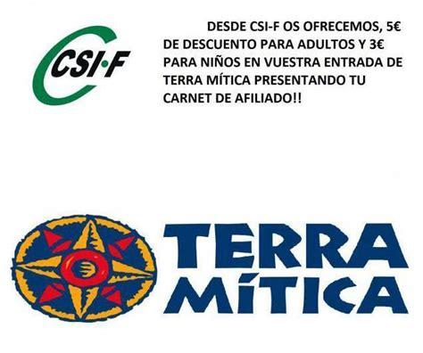 5 € de descuento   asociados CSIF   Terra Mitica