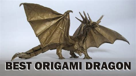 50 Best Origami Dragon   Most Complex Origami Ever   YouTube