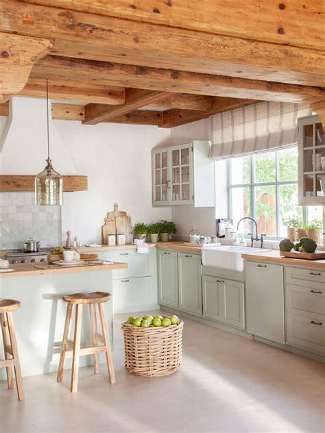 50 cocinas rústicas bonitas, con muebles vintage y mucho ...