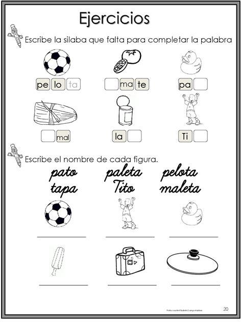 50 ejercicios de lecto escritura para preescolar y ...