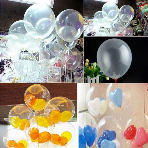 50 Globos Latex Cristal Transparentes Decoración Helio ...