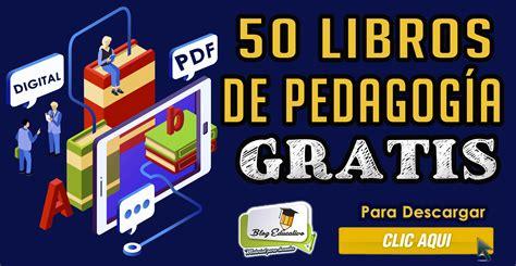 50 libros de Pedagogía en PDF Gratis   Blog Educativo