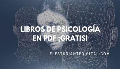+50 Libros de Psicología en PDF Gratis para descargar o ...