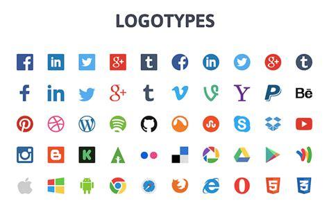 50 Logos de redes sociales y marcas de Internet en ve ...