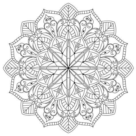 50 mandalas difíciles en blanco y negro para descargar【GRATIS】
