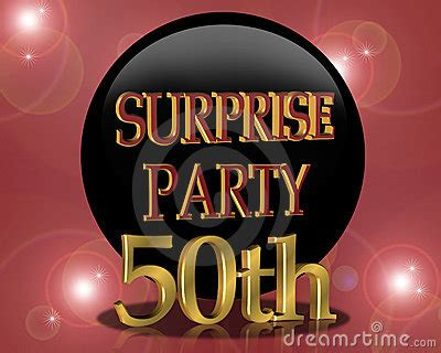50th Birthday Surprise Party Invitation Stock Photo ...