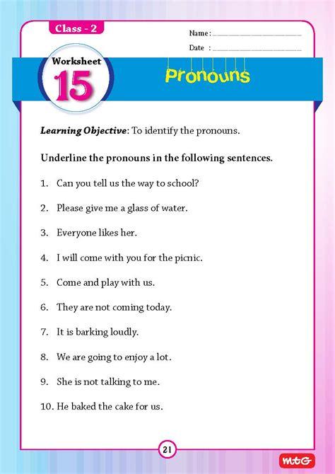51 English Grammar Worksheets   Class 2  Instant ...