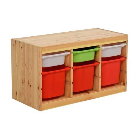 51% OFF   IKEA IKEA Child Wooden Storage with Bins / Storage