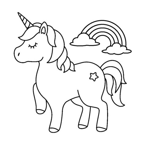 52 Cute Cartoon Unicorn Coloring Pages – GetColoringPages.org