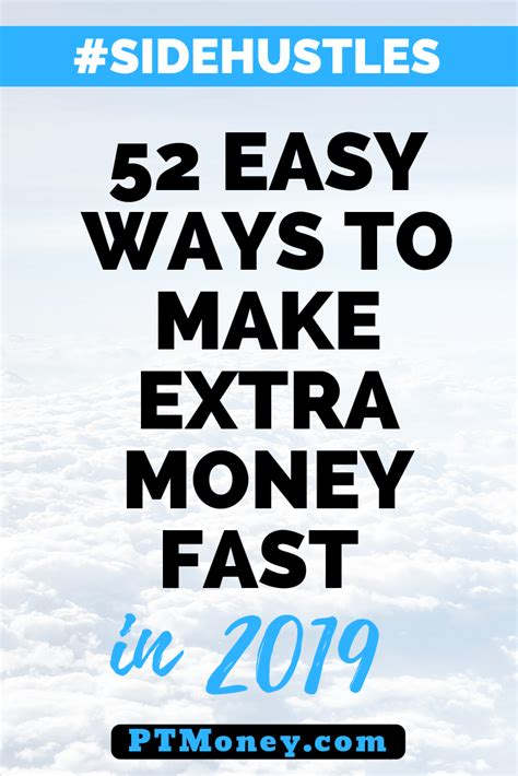 52 Easy Ways to Make Extra Money Fast in 2019 | Part Time ...