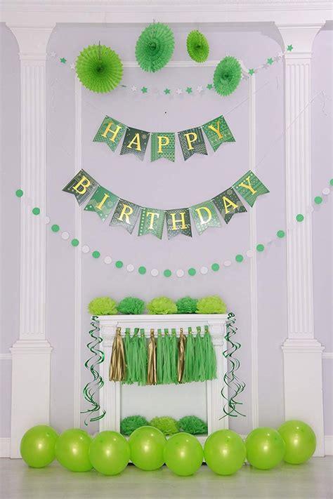 55 Pc Oro Verde De Cumpleaños Decoración De Fiesta Set ...