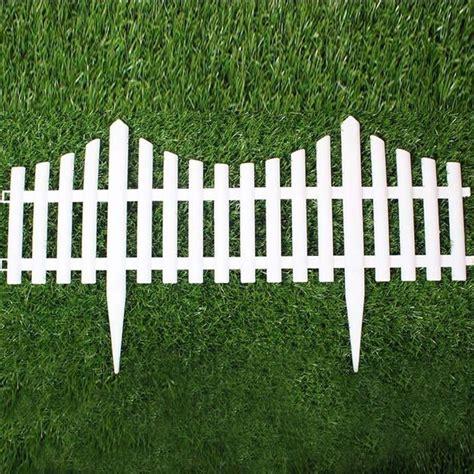 5PCS Plastic Garden Fence Easy Assemble White European ...