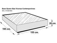 6 Base para Cama King Size Contemporánea Tabaco Miletto ...