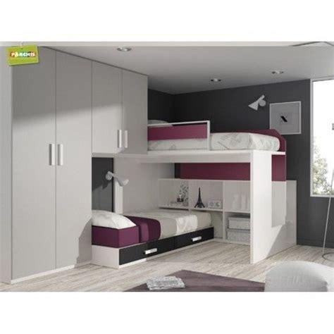 6  habitaciones modulares con mueble cama litera block ...
