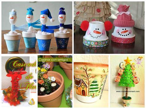 6 Manualidades navideñas con macetas | Manualidades