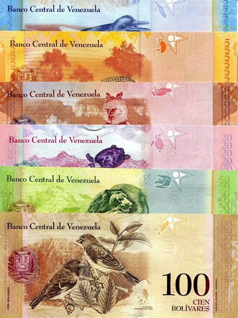 6 Note SET VENEZUELA 2   100 Bolivares Banknote World ...