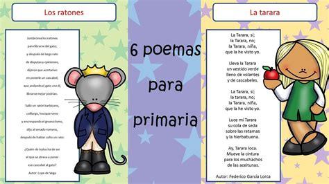 6 poemas divertidos con imagenes para trabajar en primaria ...