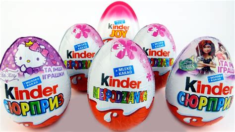 6 Surprise Eggs for girls Kinder Surprise MLP Disney ...