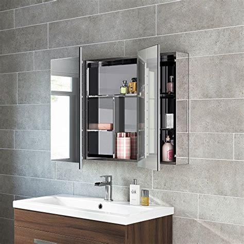 600 x 900 Stainless Steel Bathroom Mirror Cabinet Modern ...