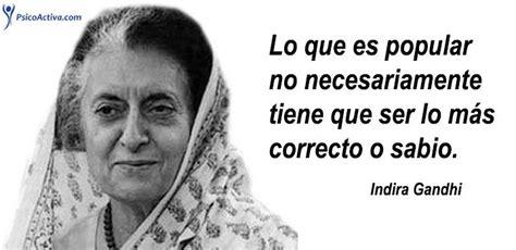 65 frases de Indira Gandhi de paz, igualdad y política