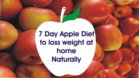 7 day apple diet to lose weight at home Naturally | Apple ...